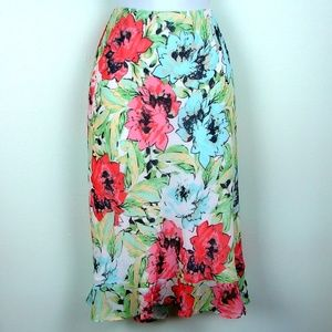 Apostrophe floral Sunday Picnic NWT skirt